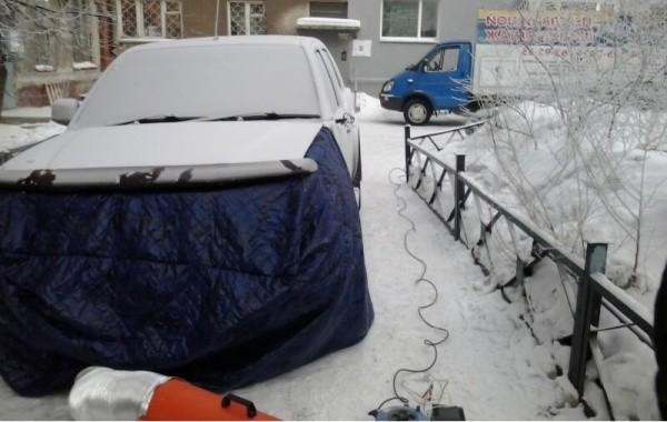 Отогрев авто в Красноярске (Range Rover)