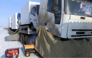 Отогрев грузовика в Красноярске