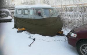 Отогрев джипов и микроавтобусов в Красноярске